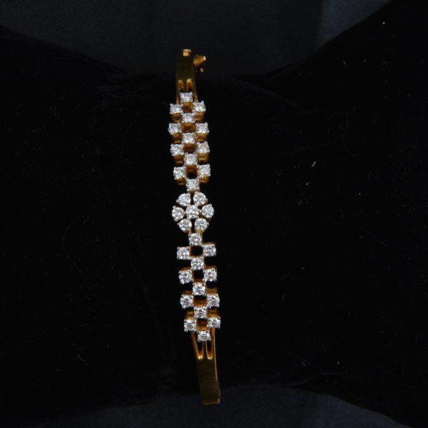 Diamond Kada Bangle 5 Sowbhagyaas Jewellery Madurai